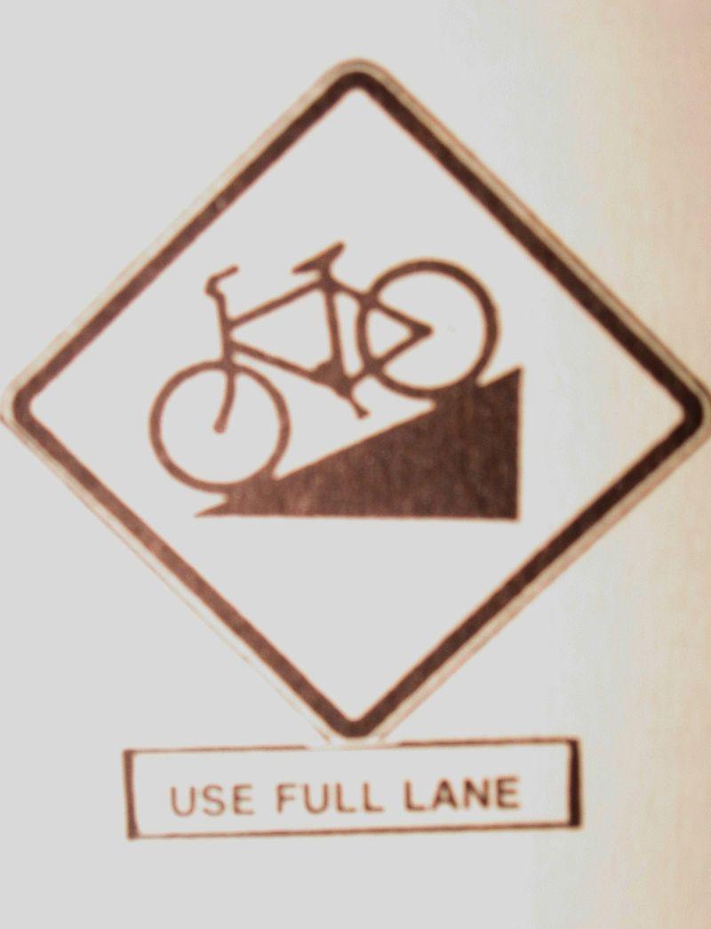 Use full lane sign