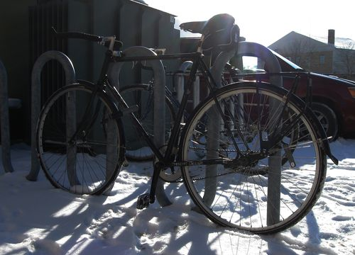 Winter Bike Parked