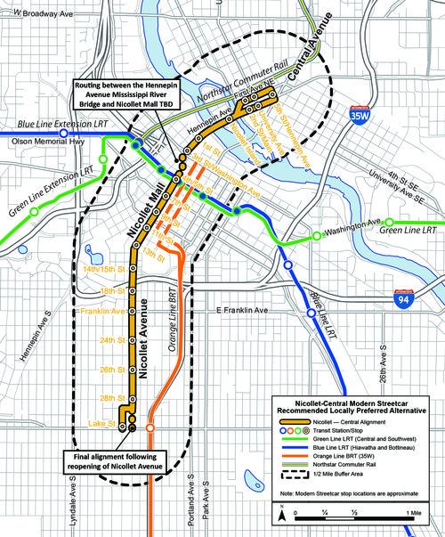 Nicollet-Central-Modern-Streetcar-LPAmap--creditCityofMinneapolis